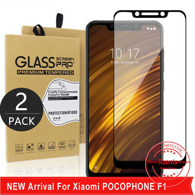 2Pcs For Xiaomi Pocophone F1 Tempered Glass Screen Protector Film Full Cover SD