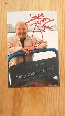 Gerry Marsden Ferry Cross The Mersey Hand Signed Autographed Promo & Lyrics