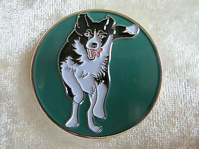 GEOCACHING GEOCOIN ROUNDING UP, COLLIE DOG  SHEEP COIN sample