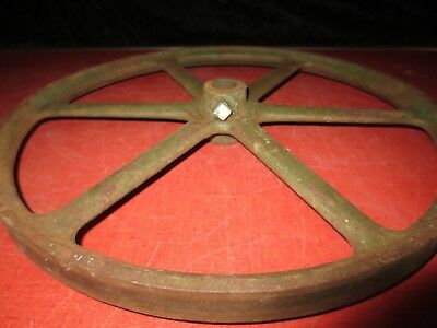 Vtg Antique F E MYERS Cast Iron Shallow Well Water Pump Pulley Wheel Hit & Miss
