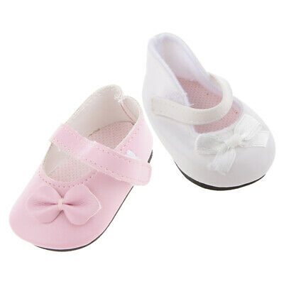 2 Pair Girl Doll Shoes For AG American Doll 18inch Doll Dress up Accessory