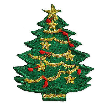 Christmas Tree Iron Sew on Appliques Embroidered Patches Craft Motifs  Scrapbook 95f3e57ba3be