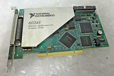 National Instruments PCI-6034E NI DAQ Card 16 bit Analog Input 187576G-01