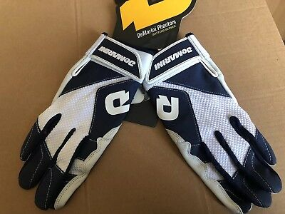 Batting Gloves Demarini Phantom Men's Medium Dark Blue White leather  New