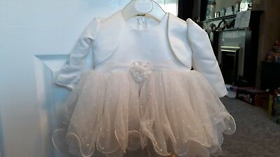 Ivory girls christening or bridesmaid gown age 3 months