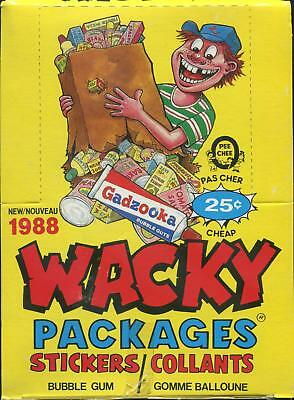 Wacky Packages Stickers Wax Box (1988 O-Pee-Chee)