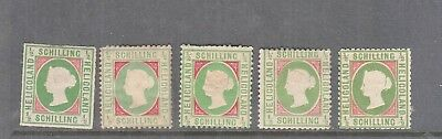 Heligoland 1867 1/2 Schilling Green-Rose Mint, You Are Buying One Value Only