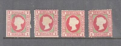 Heligoland 1867 1 Schilling Rose-Green Mint, You Are Buying One Value Only