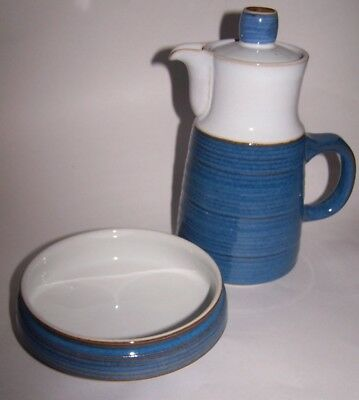 Denby Langley Pottery 'Chatsworth' Cereal / Dessert Bowl & Coffee Pot