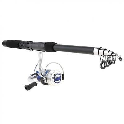 2.1m Fishing Rod and Reel Combo Full Kit Pole Spinning Reel Pole Lures Bag Set