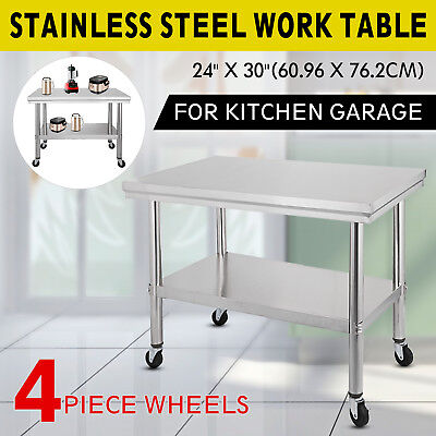 """30""""x24"""" Commercial Stainless Steel Work Table Food Prep Kitchen Restaurant"""