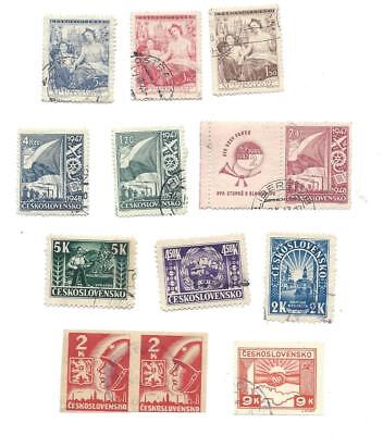 Czechoslovakia Vintage Used Stamps  Lot of 10 As Shown