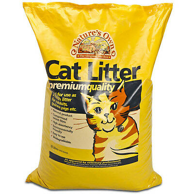 Natures Own Premium Cat Litter Dust Free Absorbent Wood Pellets 5, 15, 30 Litres