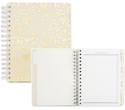 LUXURY Wedding Planner Book Cream Ivory Diary Marriage Organiser Engagement Gift