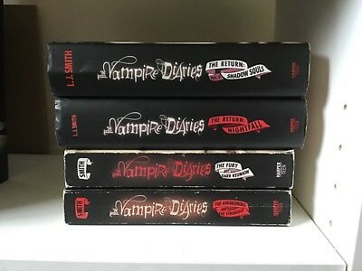 The Vampire Diaries First 6 books paperback and hardback