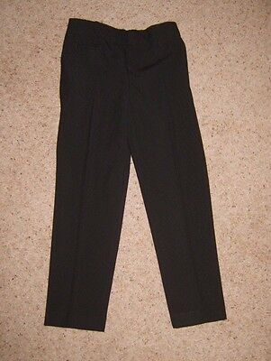 Boys Childs Black M&S School Trousers Age 5-6 Years Height 116cm Used