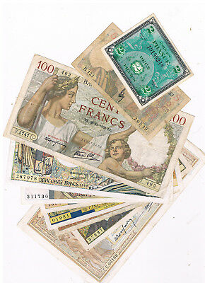 France Lot 10 Different Notes Circ