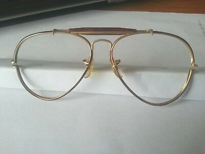 Ray Ban Usa B&l Aviator  58[]14 Vintage Sunglassefront Frame Parts Only Tortoise