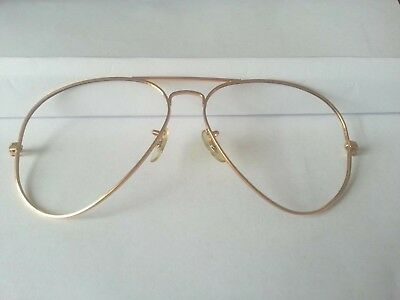 Ray Ban Usa B&l Aviator 60[]16 Vintage  Sunglass Front Frame Parts Only