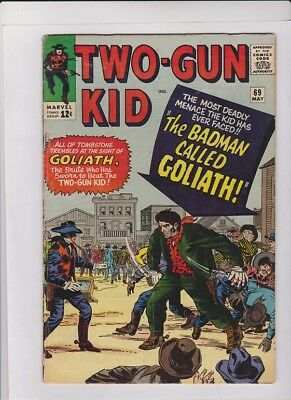 "TWO-GUN KID #69 VG-, Jack Kirby cvr, Dick Ayers art, ""The Badman Called Goliath"""
