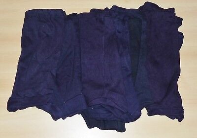 "24 PAIRS VINTAGE 1960s UNWORN GIRLS NAVY BLUE SCHOOL GYM KNICKERS SIZES 12""& 14"""