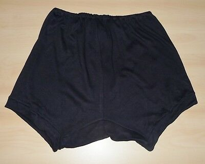 VINTAGE 1970s UNWORN GIRLS NAVY BLUE INTERLOCK SCHOOL GYM KNICKERS SIZE 26""