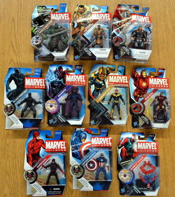 Lot of 10 Marvel Universe 3.75 Figures BLACK PANTHER - DAREDEVIL +*DAMAGE CARDS*