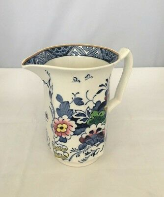 Booths 1920's NETHERLANDS Blue Cream/Milk Pitcher/Jug Silicon China England