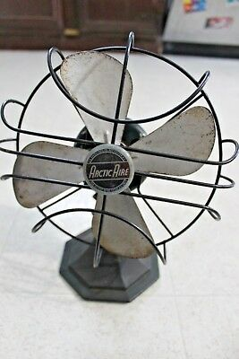 Antique / Vintage Artic Aire fan cast iron Green base