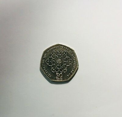 Rare & Valuable UK 50p Pence Coins / celebrating q00 years of girl guiding uk