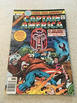 Captain America King Size Special  4  VF  8.0  High Grade  Kirby Art  Magneto