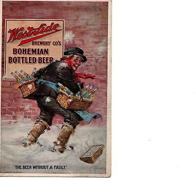 Pre-Prohibition ~ Postcard ~ Westside Brewery ~ Chicago ~ Advertisement    (329)