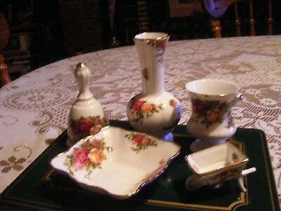5 Pieces of Royal Albert Old Country Roses China.