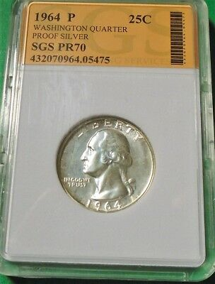 Nice 1964 Washington Quarter 90% Silver Proof # 05475  As Pictured