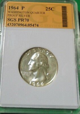 Nice 1964 Washington Quarter 90% Silver Proof # 05474 As Pictured