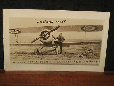 Antique 1919 Nieport Scout Plane Airplane Western Front Real Photo Postcard