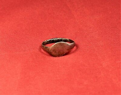 Ancient Roman Silver Ring, Finger Ring, 5. Century