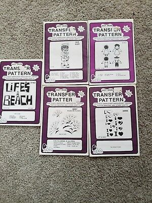 Vintage Sewing Pretty Punch Iron on Pattern Transfers Embroidery New 4 packages