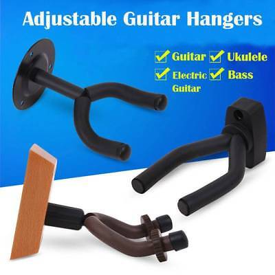 1x Guitar Wall Mount Hanger Stand Holder Hooks Bracket Acoustic Electric Bass