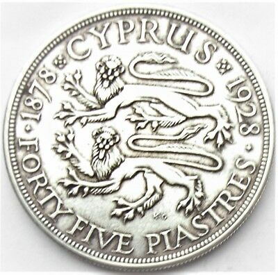 Cyprus - George V - 45 Piastres 1927