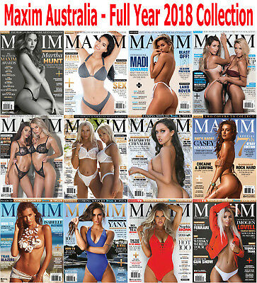 Maxim Australia Collection - 12 Magazines - 2018 Full Year Issues - Digital PDF
