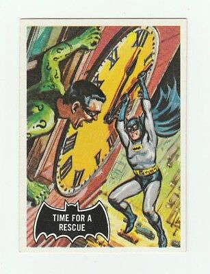 1966 Topps Batman Black Bat #41 Time For A Rescue !! Crease Free !! Nice !!