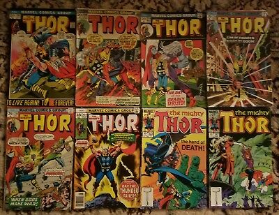 Thor key book lot Mid Grade #201 208 209 229 240 272 343 347 (8 issues)