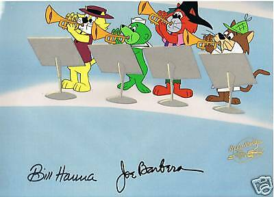 Top Cat Hanna Barbera Genuine Production Cel Signed