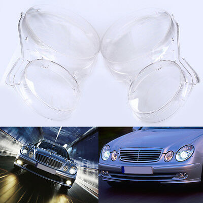 for Benz W211 E350/300/200 2002-2008 Headlight Lens Replacement Cover 06 07 08