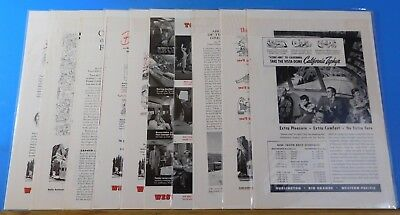 Ads Western Pacific Railroad Lot #19 Advertisements from various magazines (10)