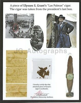 Ulysses S. Grant Original Piece of His Personal Cigar with Provenance from 1889