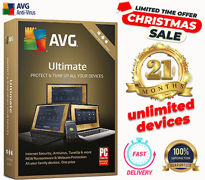 Avg Ultimate 2018, 21Months For Avg Unlimited Devices, Windows, Mac, Android