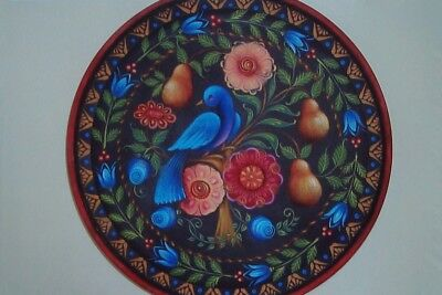 """Rosemary West tole painting pattern """"Cake Plate"""""""