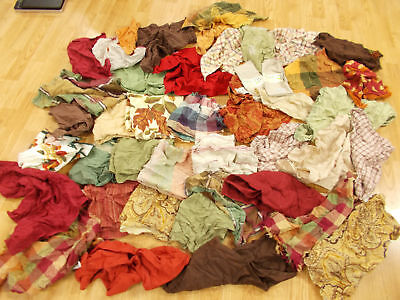 PERFECT Huge LOT of 43 Mixed THICK COTTON PLAID Dinner Napkins FALL HARVEST